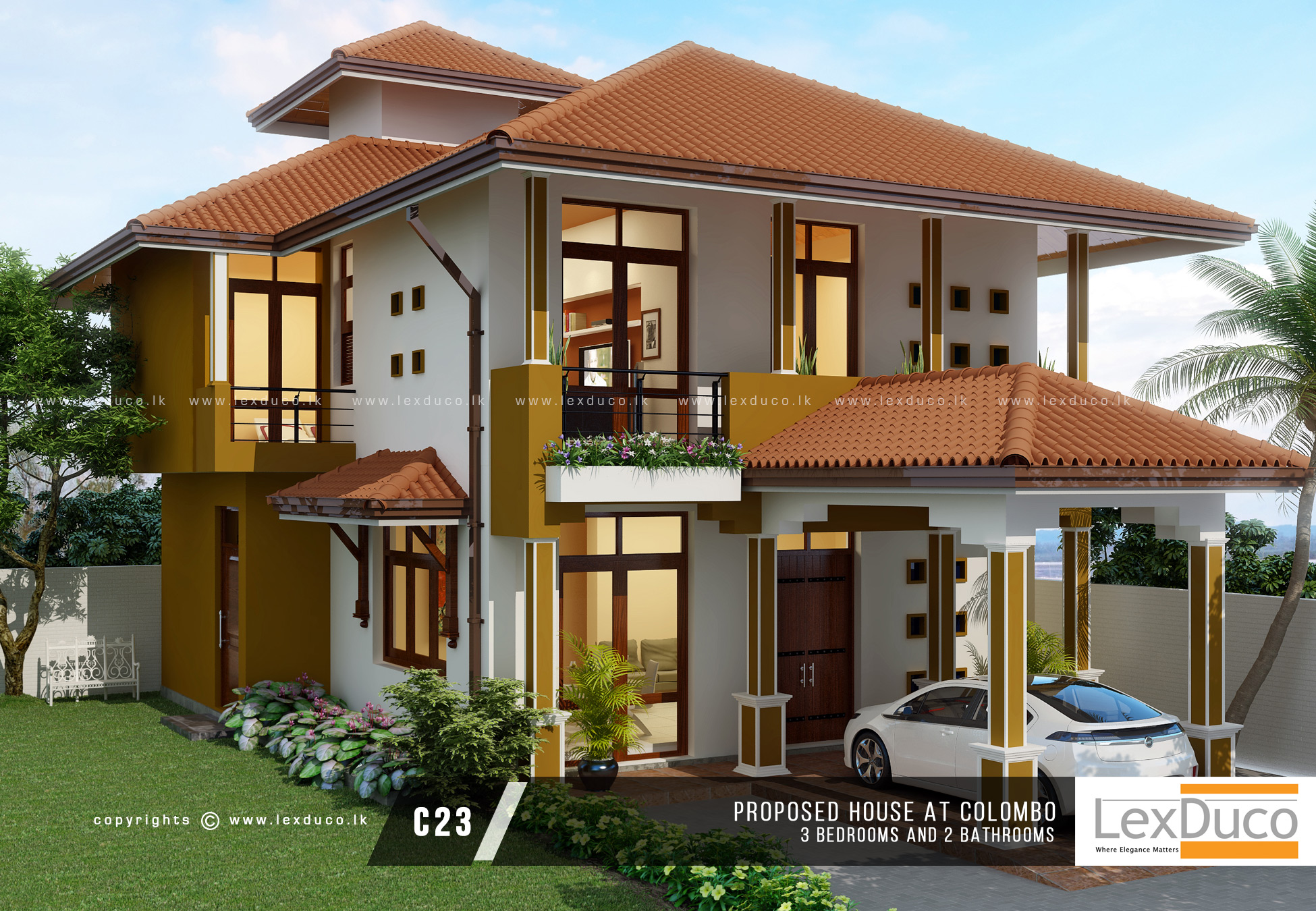 2 Floor Villa Plan Design 1 House Builders In Sri Lanka 1 In Home Construction