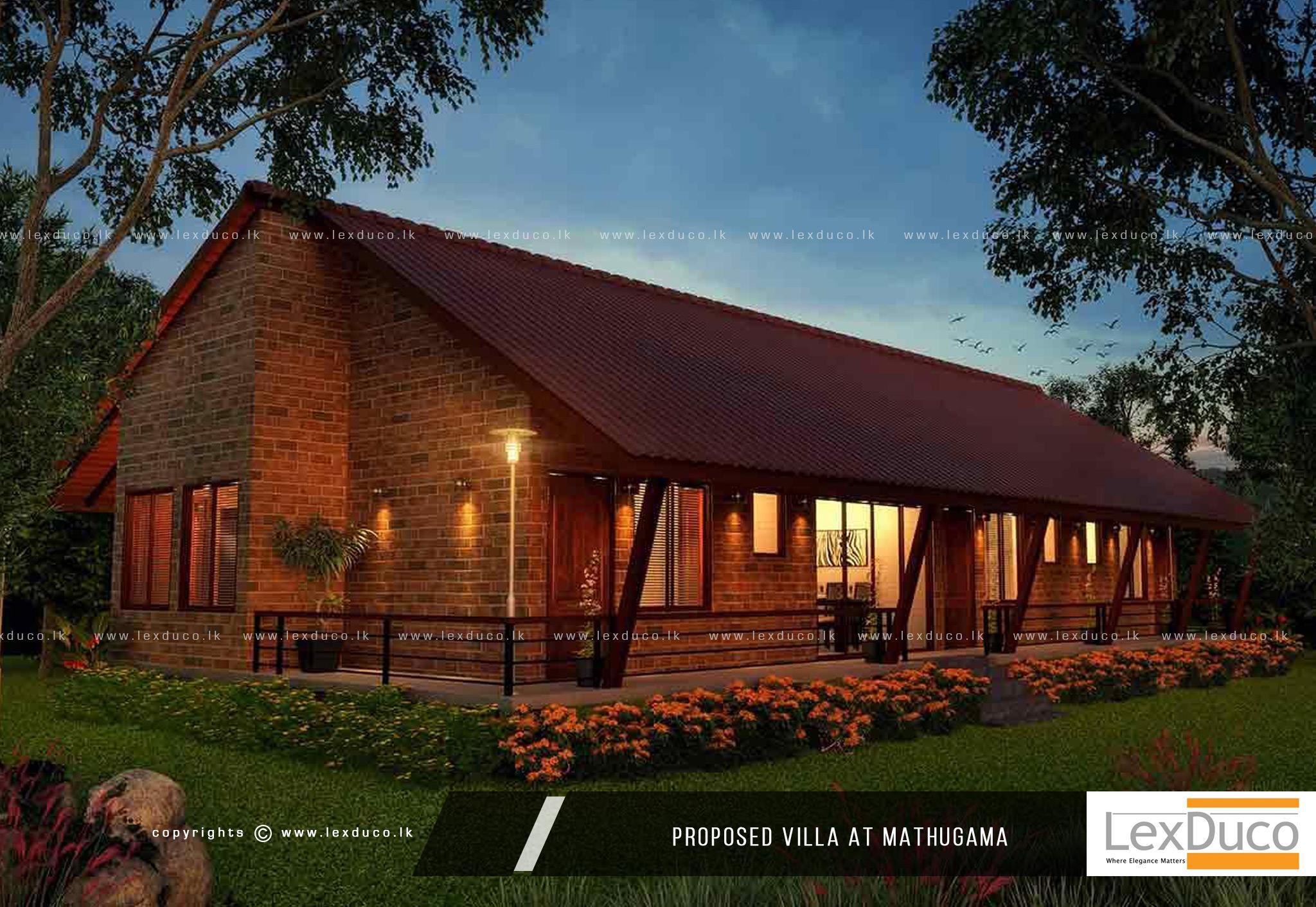 Villa at Mathugama | Lex Duco