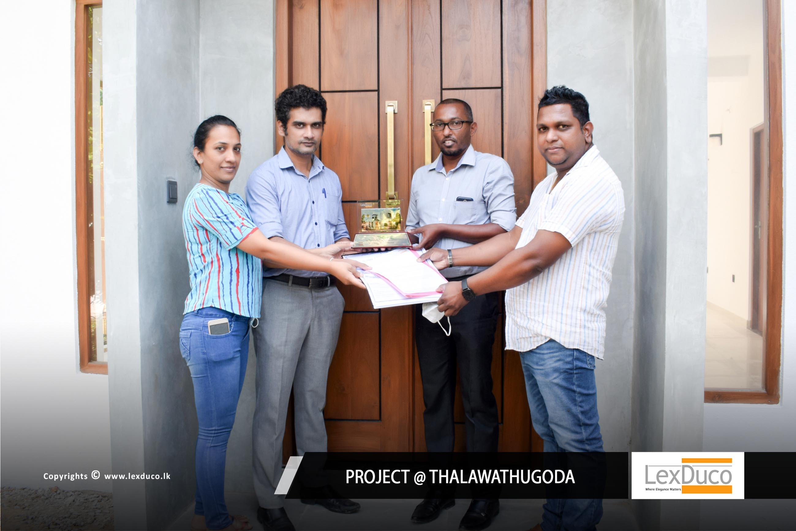 Residential Housing Project at Thalawathugoda   Lex Duco